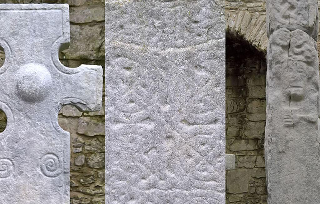 ancient Celtic crosses